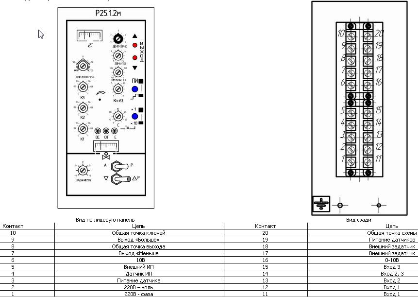 Р25 · Схема подключения