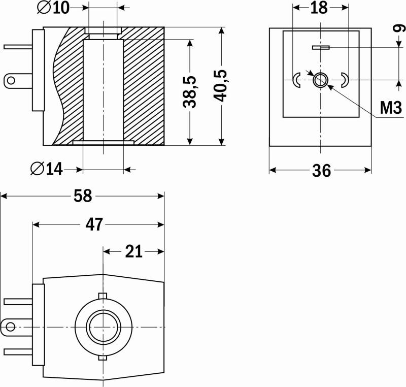 Схема катушки S91h