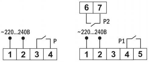 Схема подключения на таймер от ООО Современные приборы в г. Ижевск