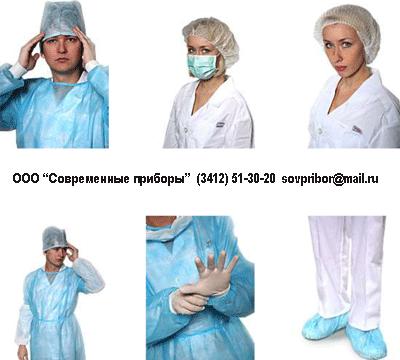 Медицинские одноразовые маски, халаты, фартуки, бахилы, шапочки в Ижевске