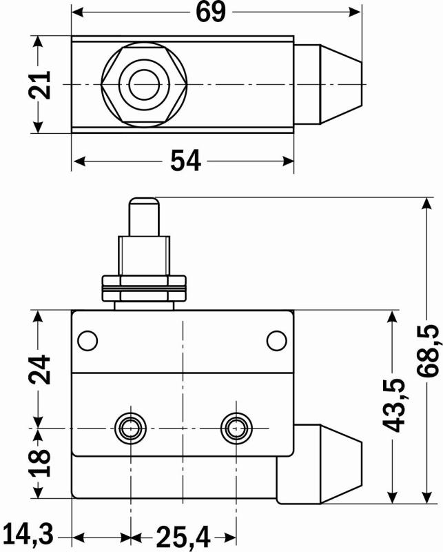 схема выключатель конечный, конечный выключатель схема, Cхема, габариты конечного выключателя AZ-7310