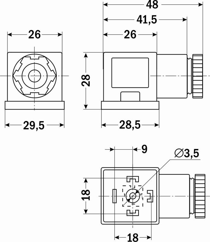 Каталог коннекторов для конечных выключателей